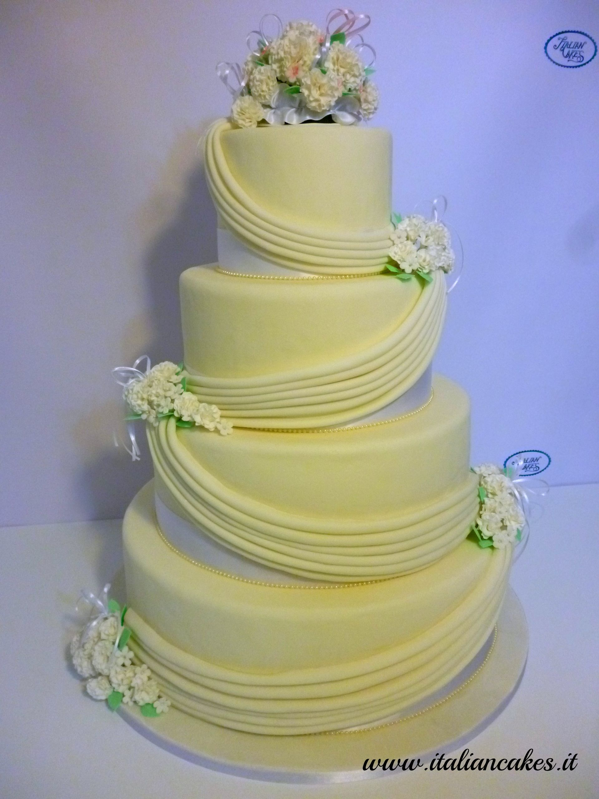 Round Wedding Cakes - Wedding cake with gumpaste flowers by ...