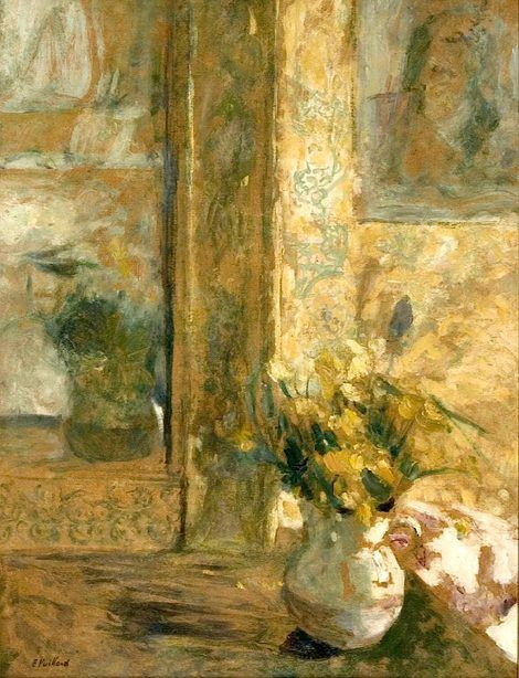 Flowers in the Salon by Edouard Vuillard