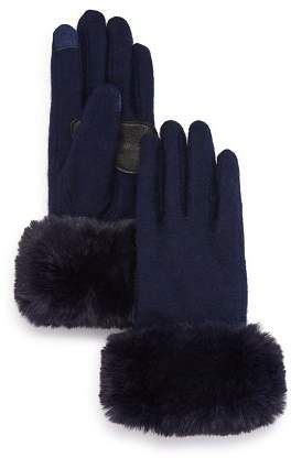 b8757b182 Echo Faux Fur-Cuff Tech Gloves. Touch sensitive technology in thumb and  index finger Compatible with iPhones, iPads and other touch-screen devices  Faux-fur ...