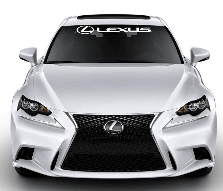 Lexus Logo Auto Wide Car Bumper Sticker Decal 8 X 2