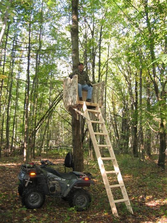 Homemade hunting platform hunting bowhunt huntinggear for Deer hunting platforms
