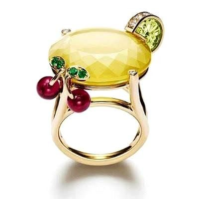 Cocktail Drink in a Ring! by Piaget Jewelry