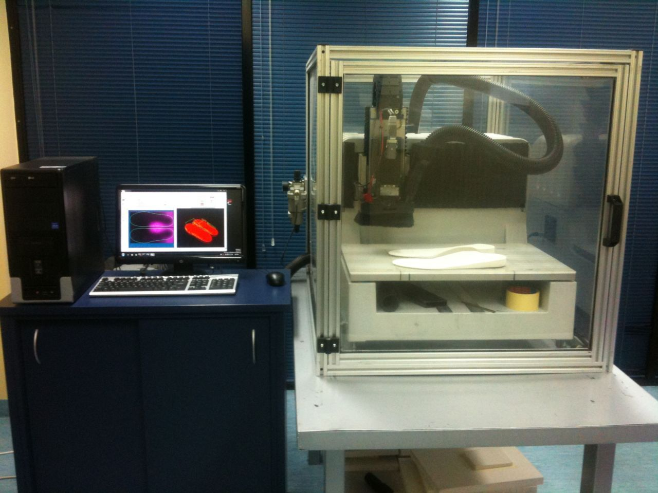 Having an onsite milling machine means we can design make