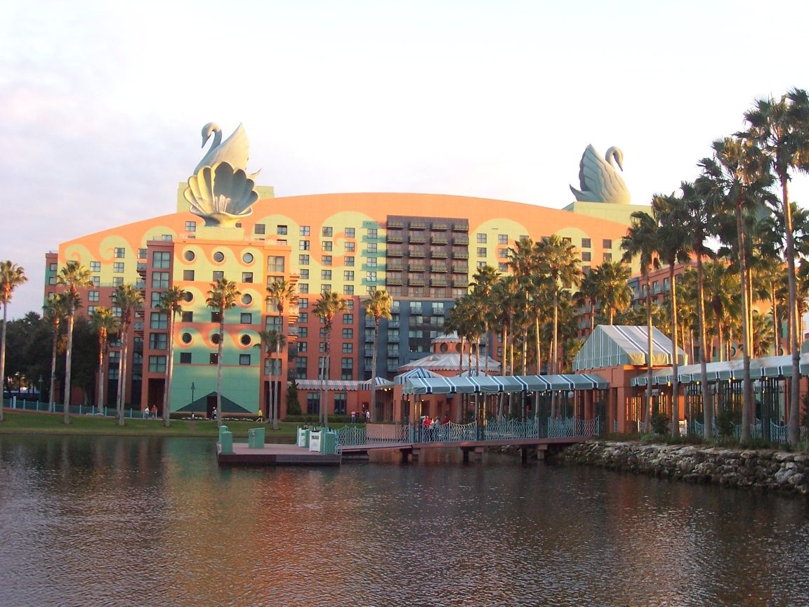 The Walt Disney World Swan Hotel Located Between Epcot And S Hollywood Studios In Florida