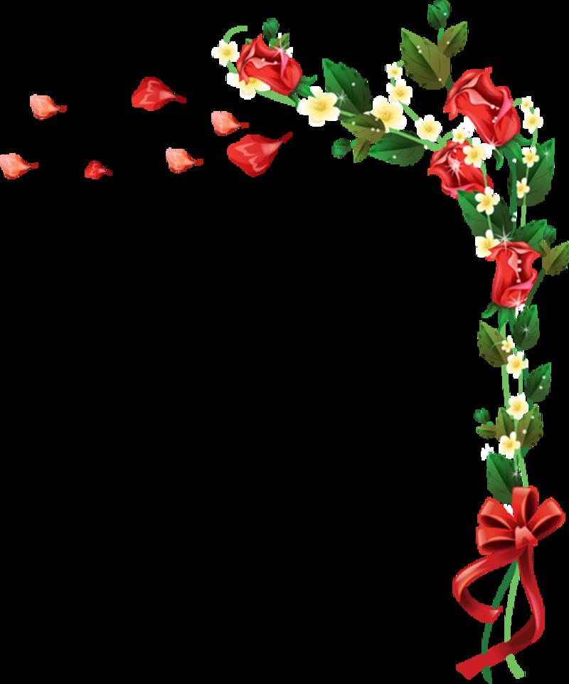 Открытка виньетки из цветов
