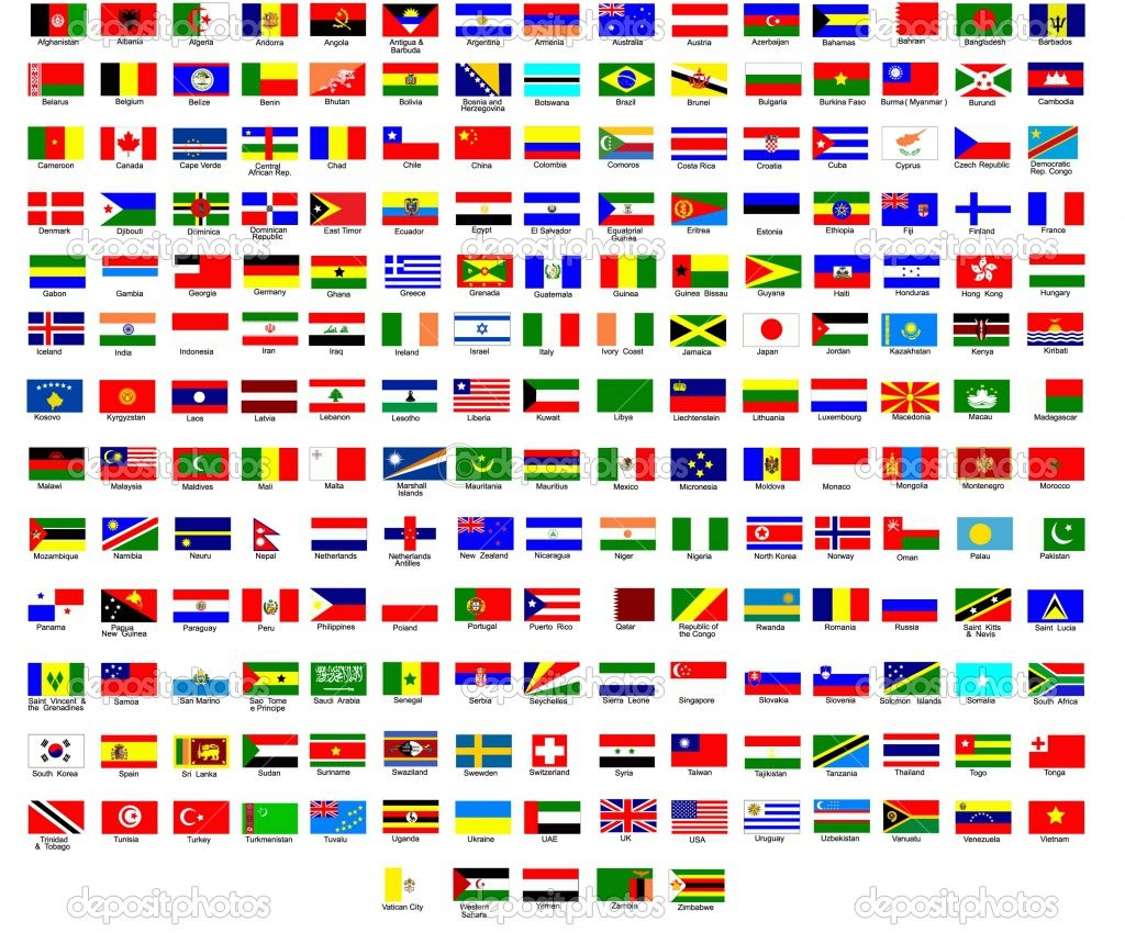 Flags Of Different Countries Nice To Use With Immigrant Ancestor And Or Generally Flags Of The World World Flags With Names Countries Of The World