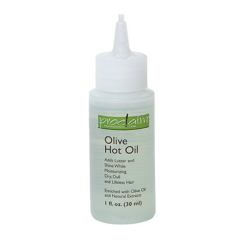 Proclaim Olive Hot Oil hair treatment. This works great to give your hair back it's shine and moisture when it's dry and dull. Place it in hot tap water and heat it for one minute. Massage it into wet hair and then rinse and shampoo. Costs $1.99