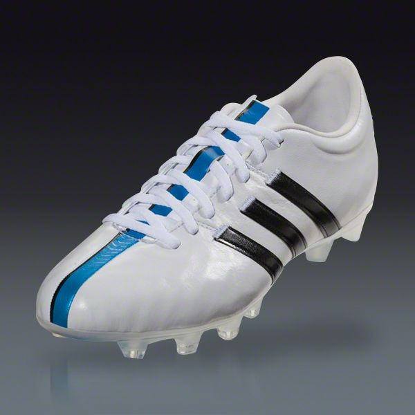 6964dcf8c25 Buy adidas 11pro FG - white black solar blue Firm Ground Soccer Shoes on  SOCCER.COM. Best Price Guaranteed. Shop for all your soccer equipment and  apparel ...