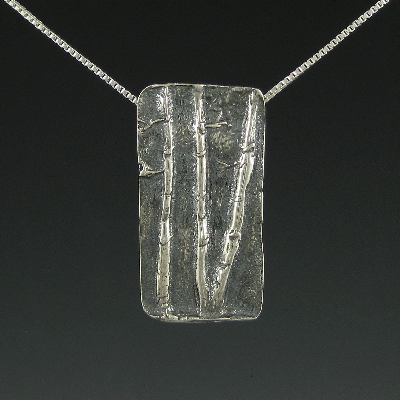 Aspen Tree Necklace Silver Trees