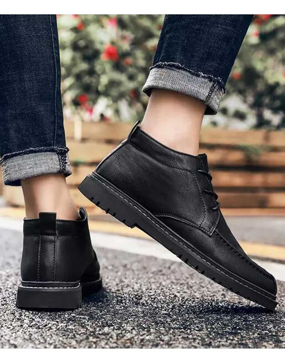 Black classic retro leather derby dress shoe in 2020