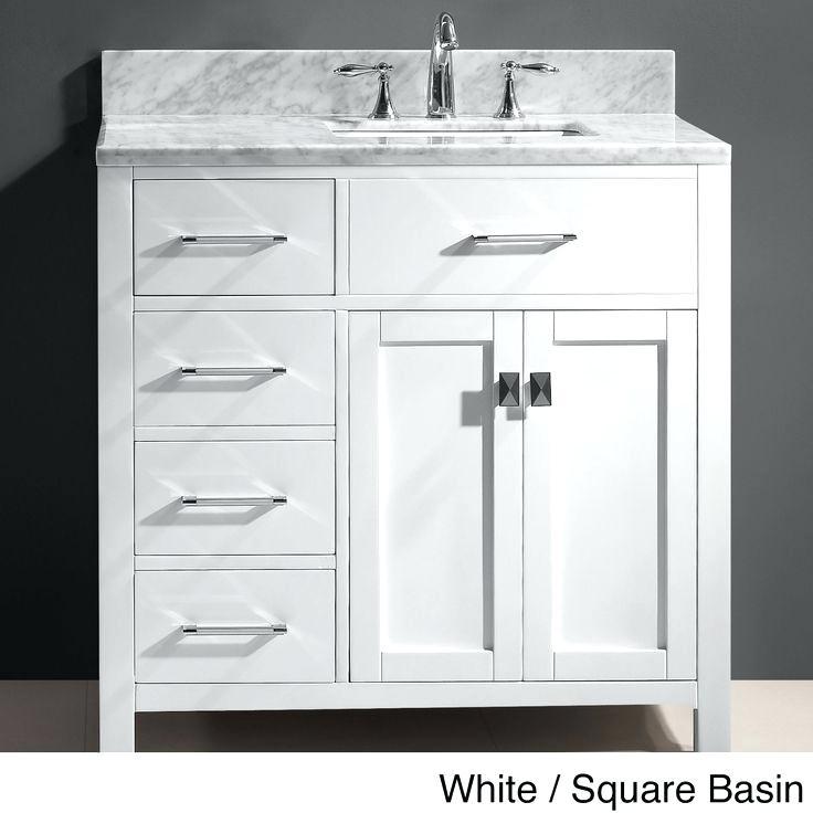 Bathroom Vanity With Sink On Right Side Single Sink Bathroom Vanity Bathroom Sink Vanity Marble Vanity Tops