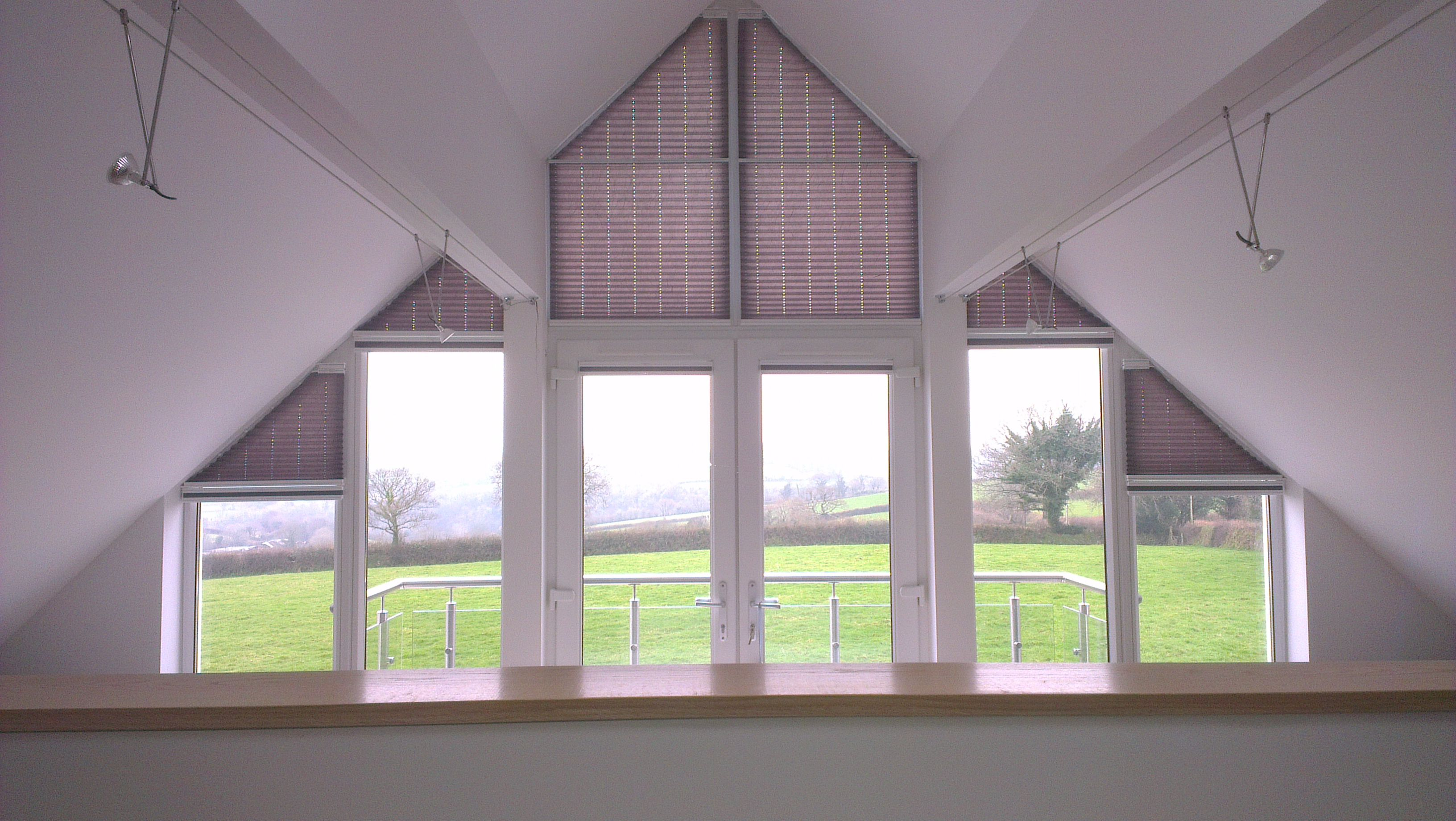 Odd Shape Windows Not A Problem Windows Gable Window Roof Design