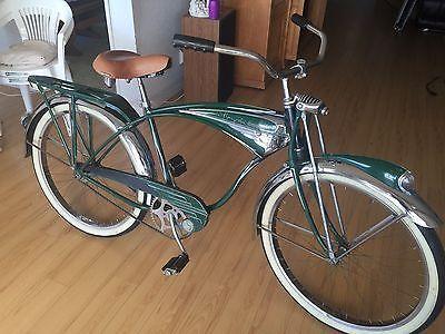 Details About Rare Vintage 1951 Schwinn Green Phantom Tank Bicycle