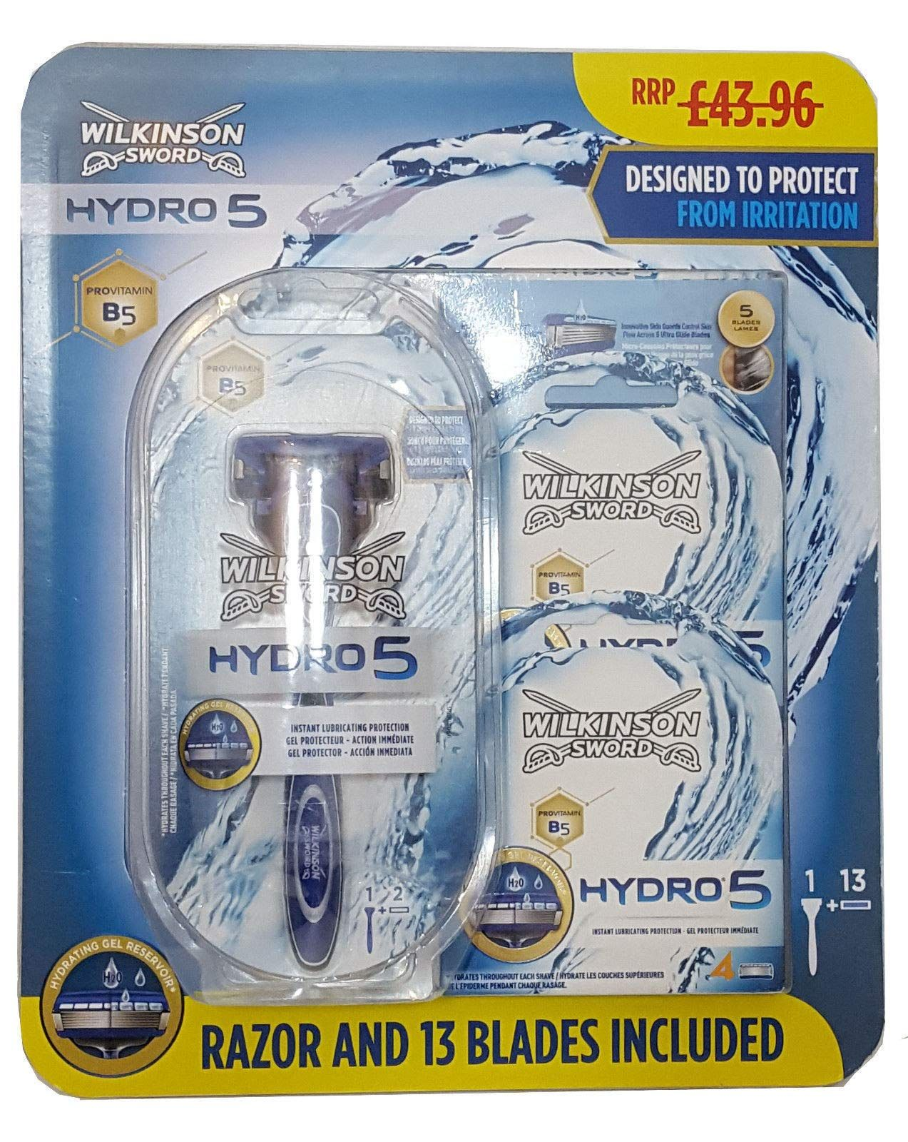 Wilkinson Sword Hydro 5 Shaving Set Includes 14 Blades Items May Be Removed From The Card In 2020 Wilkinson Sword Shaving Set Sword Design