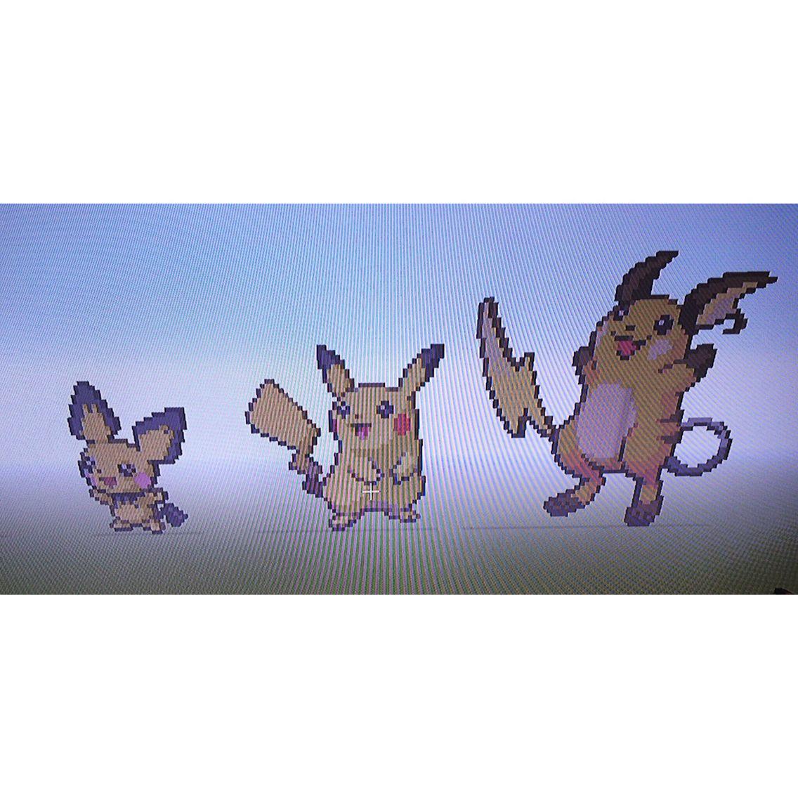 Pichu Pikachu Raichu Minecraft Pixel Art Pichu