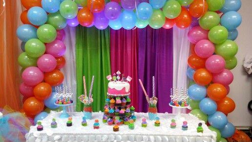 Diy Candyland Cake Table Decor Candyland Party Candyland Birthday Candyland Cake