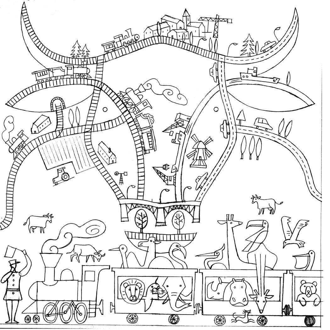Childrens hospital coloring book - Jean Manuel Duvivier Illustration Sketch For A Mural Oncology Department Emma Children S Hospital Amsterdam