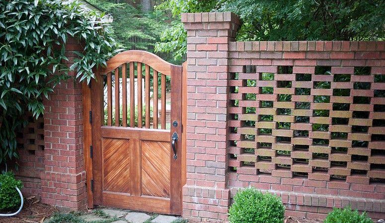 Home And Garden Diy Ideas Photos And Answers Brick Fence Backyard Fences Garden Gates