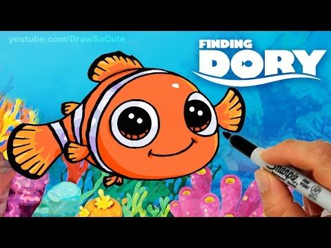 How To Draw Nemo Step By Step Cute Clown Fish Finding Dory