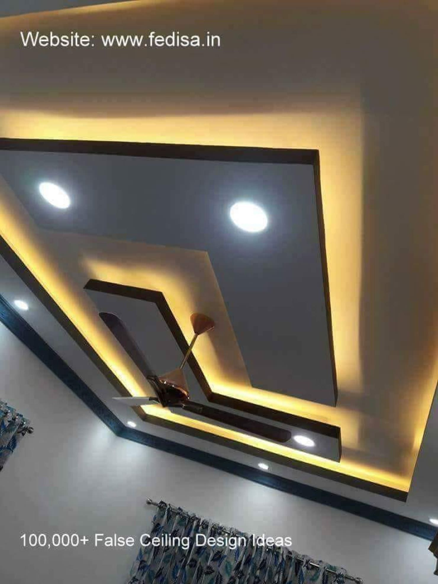 L Shape False Ceiling Classicspaceinterior Homify Pop False Ceiling Design False Ceiling Design Simple Ceiling Design