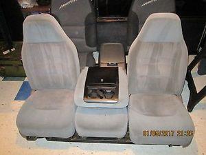 929394959697 Gray Ford 40 20 40 Truck Bronco Seats F150