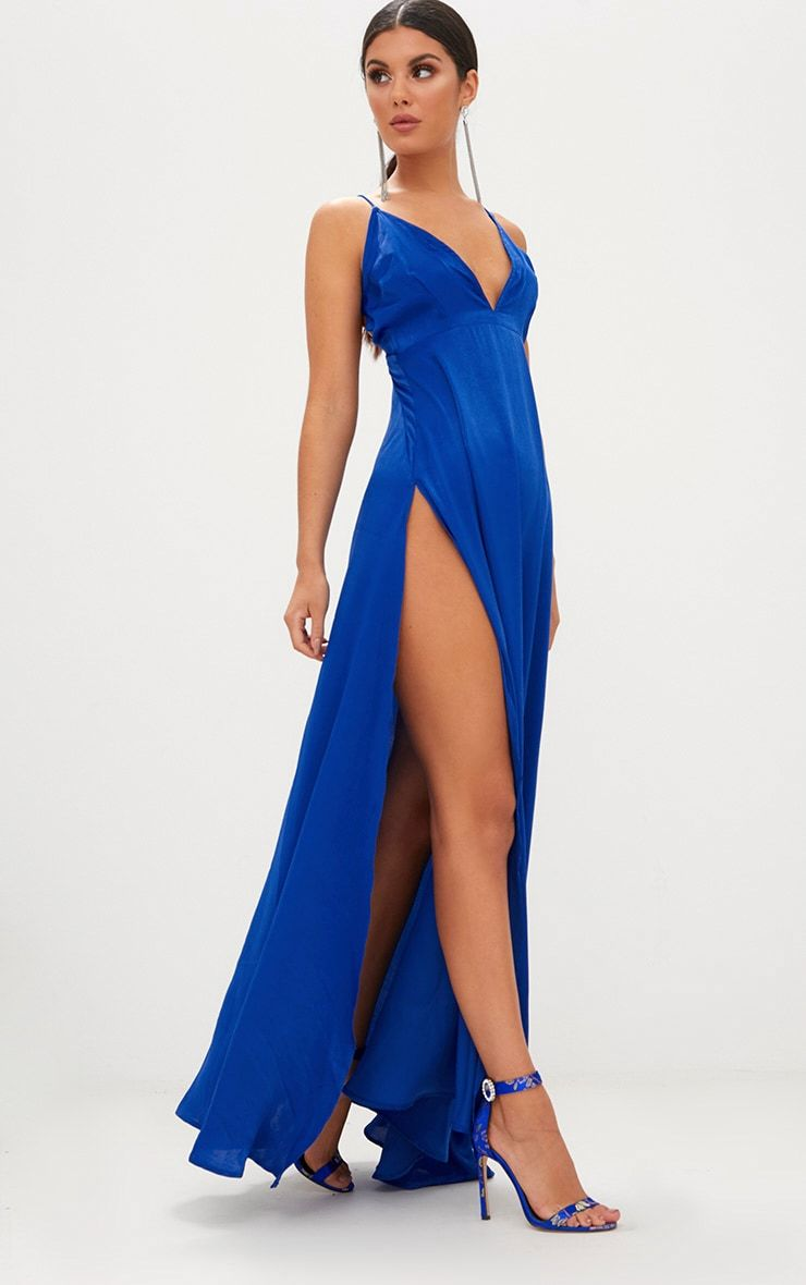 a1d0fe8cbed Cobalt Extreme Split Strappy Back Maxi Dress | Fabulous slits ...