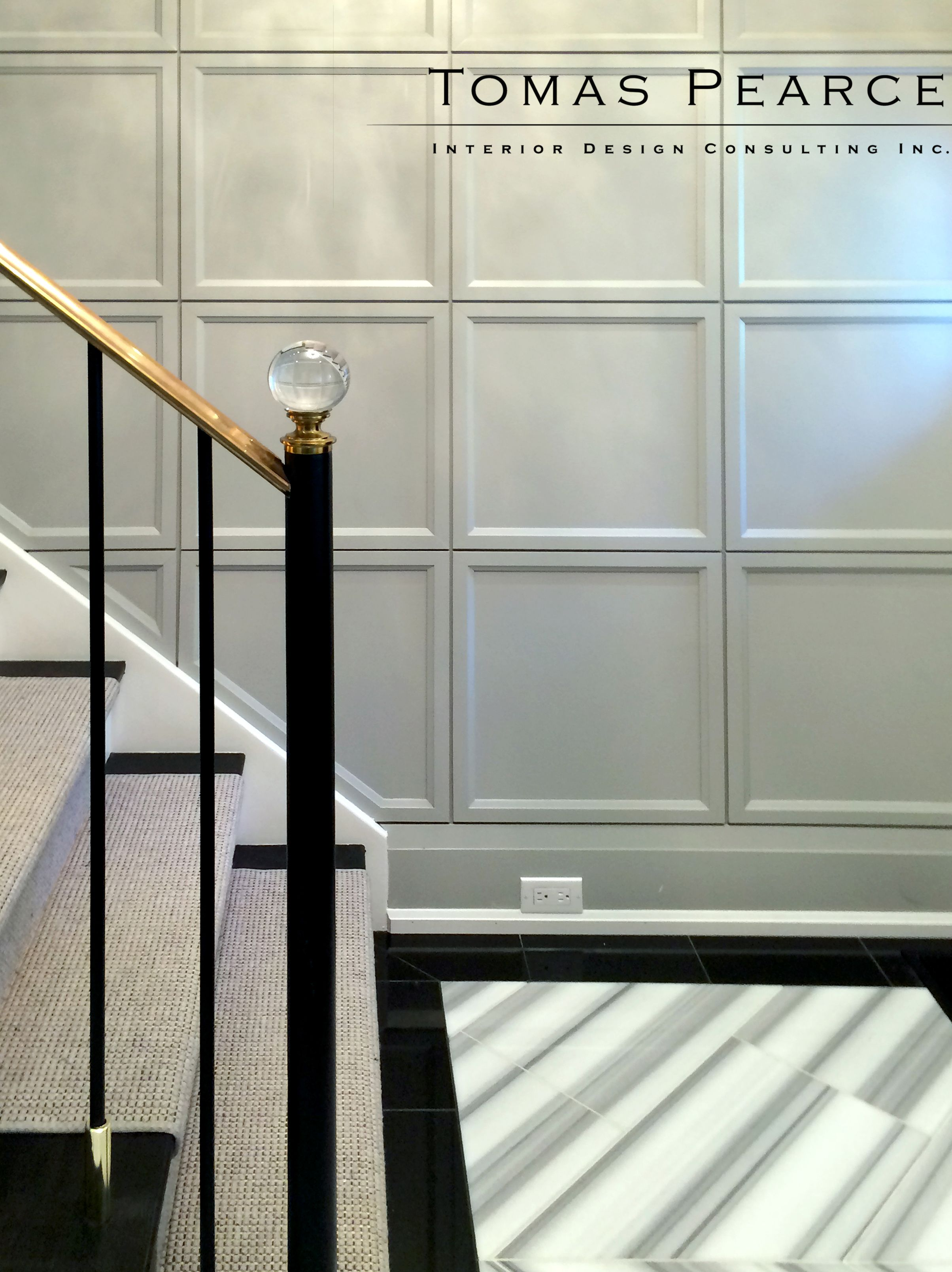 Best Transitional Stairs Foyer Decorating Wall Trim 400 x 300
