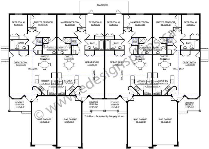 4-Plex Plan 2011583 By Edesignsplans.ca