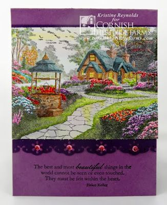 Thomas Kinkade Card Using Make A Wish Cottage Stamp Available From