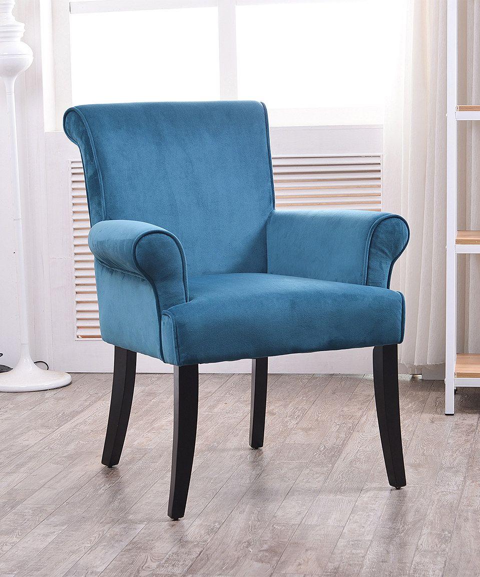 Look at this #zulilyfind! Linon Home Dark Blue Calla Chair by Linon Home #zulilyfinds