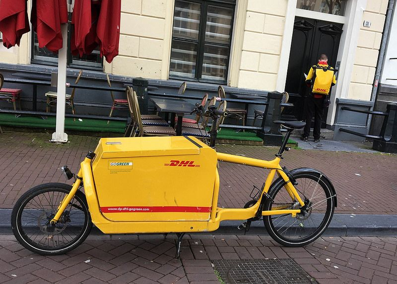 541e2f00afb DHL Delivery! Amsterdam of course | Cargo Bikes | Amsterdam, Cargo ...