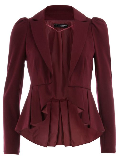 Berry peplum ponte jacket