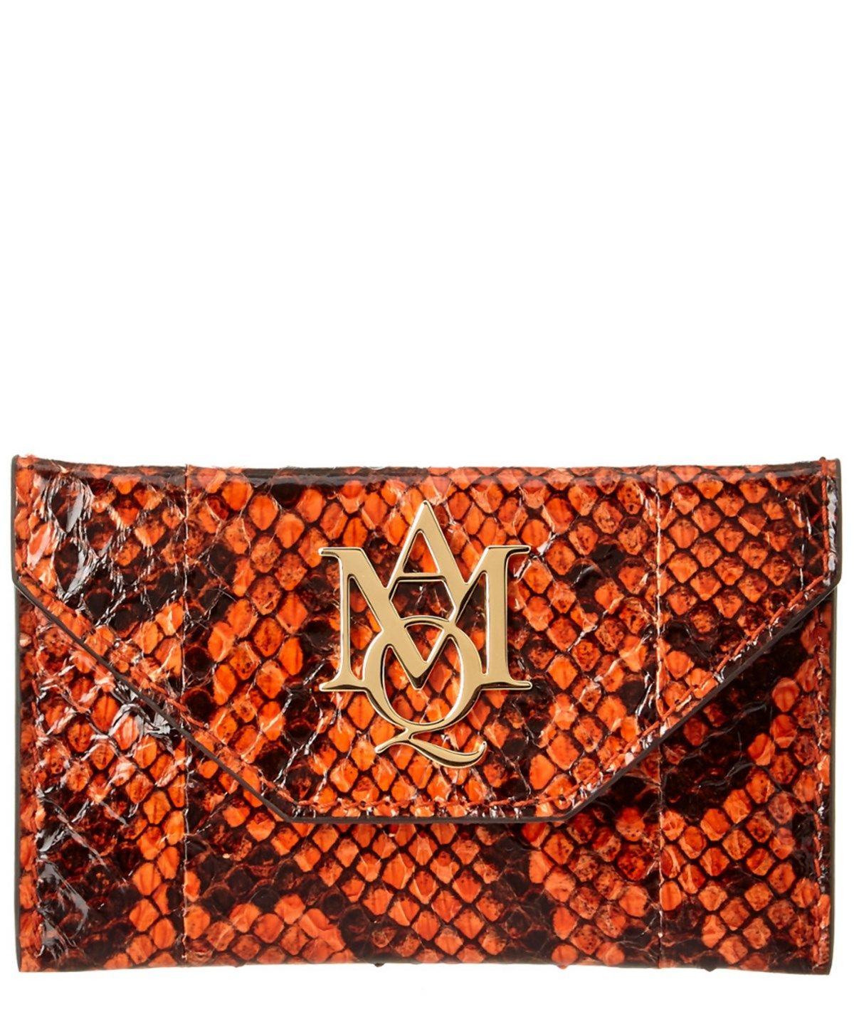 Alexander Mcqueen Insignia Snake Embossed Patent Envelope Card