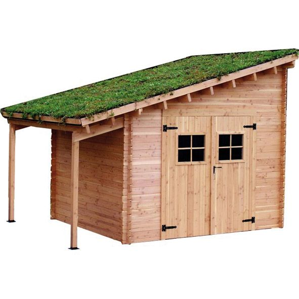 une toiture v g tale pour mon abri de jardin guzgarden. Black Bedroom Furniture Sets. Home Design Ideas