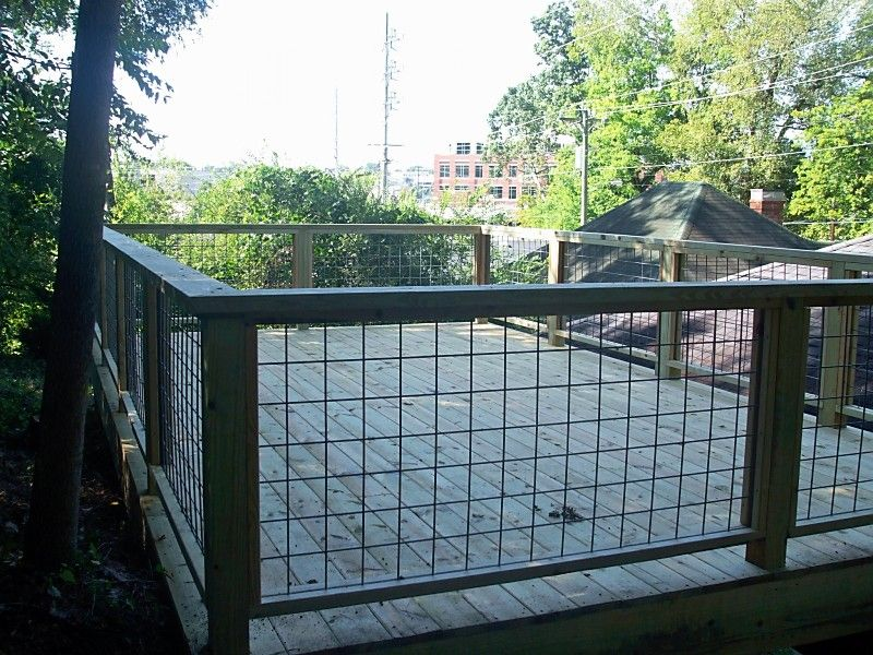 Best Hog Panel Deck Railing Innovative Wire Deck Railing 640 x 480