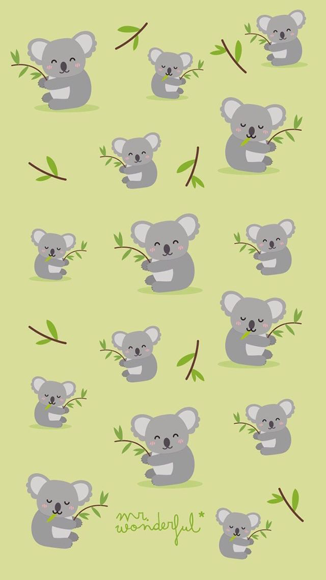 Mrwonderful Wallpaper Koala Koala Mrwonderful Wallpaper Wallpaper Iphone Cute Cartoon Wallpaper Cute Cartoon Wallpapers