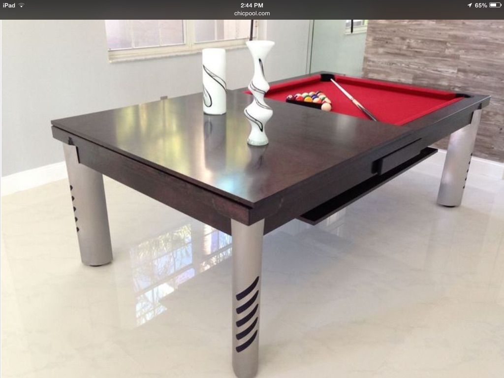 Convertible Dining Pool Table By Chicpool Com With Images Pool
