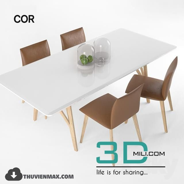 Table + Chair 3D Models Free Download Download Here: Http:/