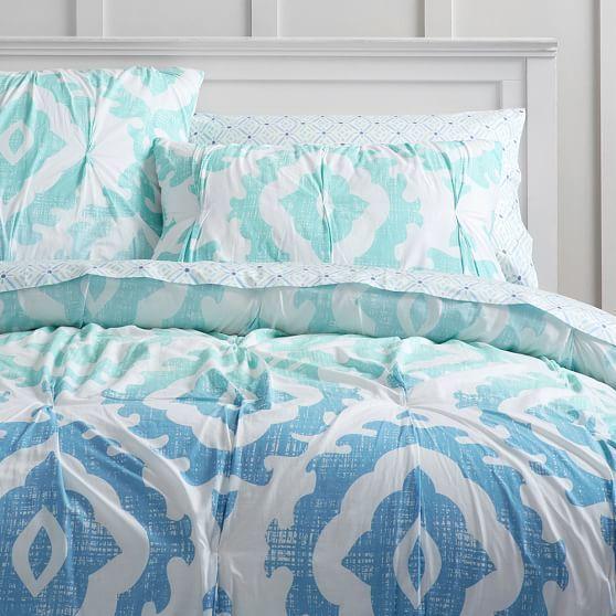 Pottery Barn Kids Multi Colors Mermaid Ocean Shells Cotton Queen Sheet Set New