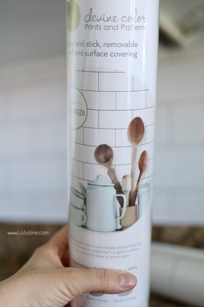 Paint That Looks Like Wallpaper faux subway tile backsplash wallpaper | subway tile backsplash
