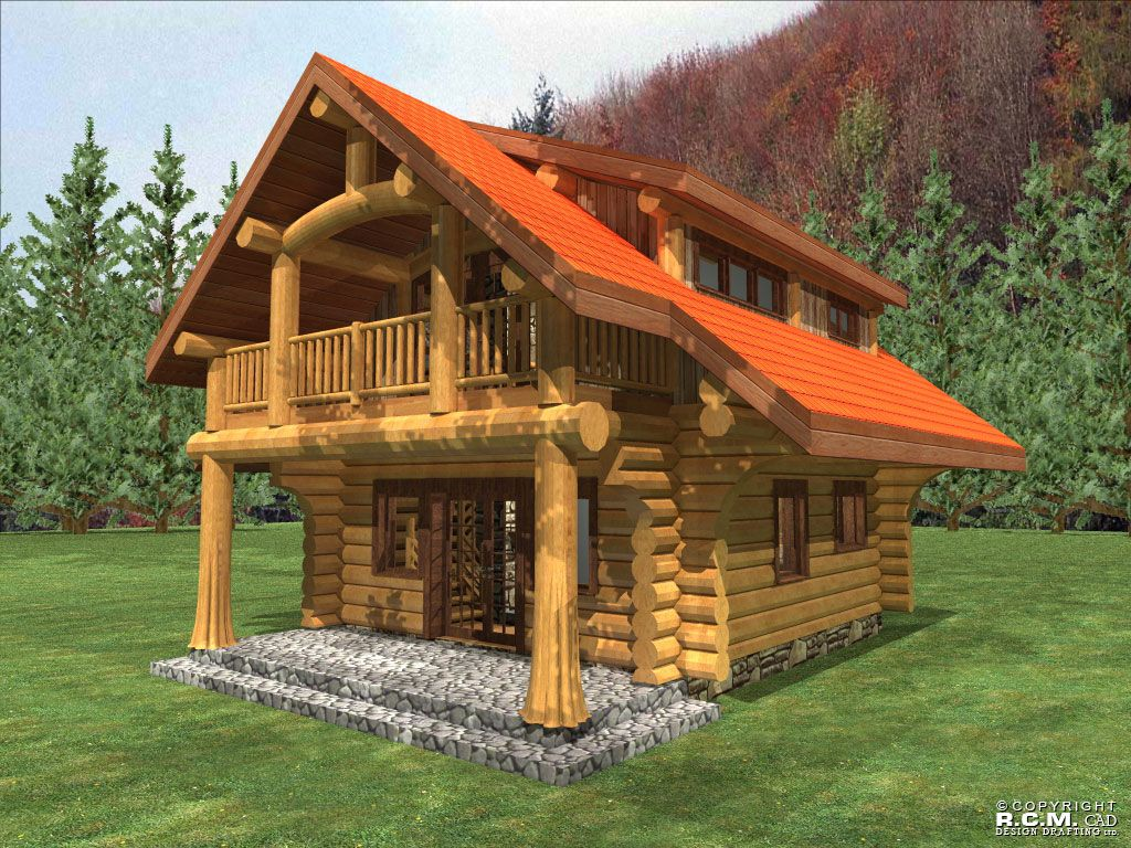 Anderson custom homes log home cabin packages kits for Custom rustic homes