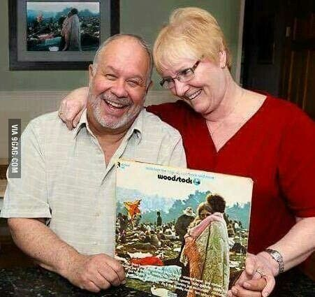The couple from the Woodstock record are still together after 46 years. Love.
