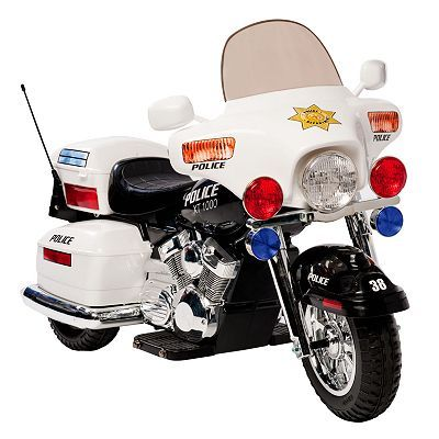 National Products Police Motorcycle Ride On White Ride On Toys