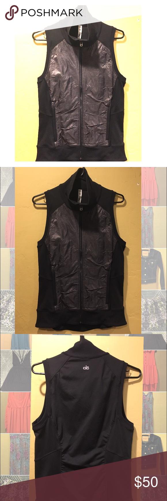 Alo Yoga Lakeside Vest Black NWOT Size L black Alo Yoga Lakeside vest. Very flattering. NWOT. ALO Yoga Jackets & Coats Vests
