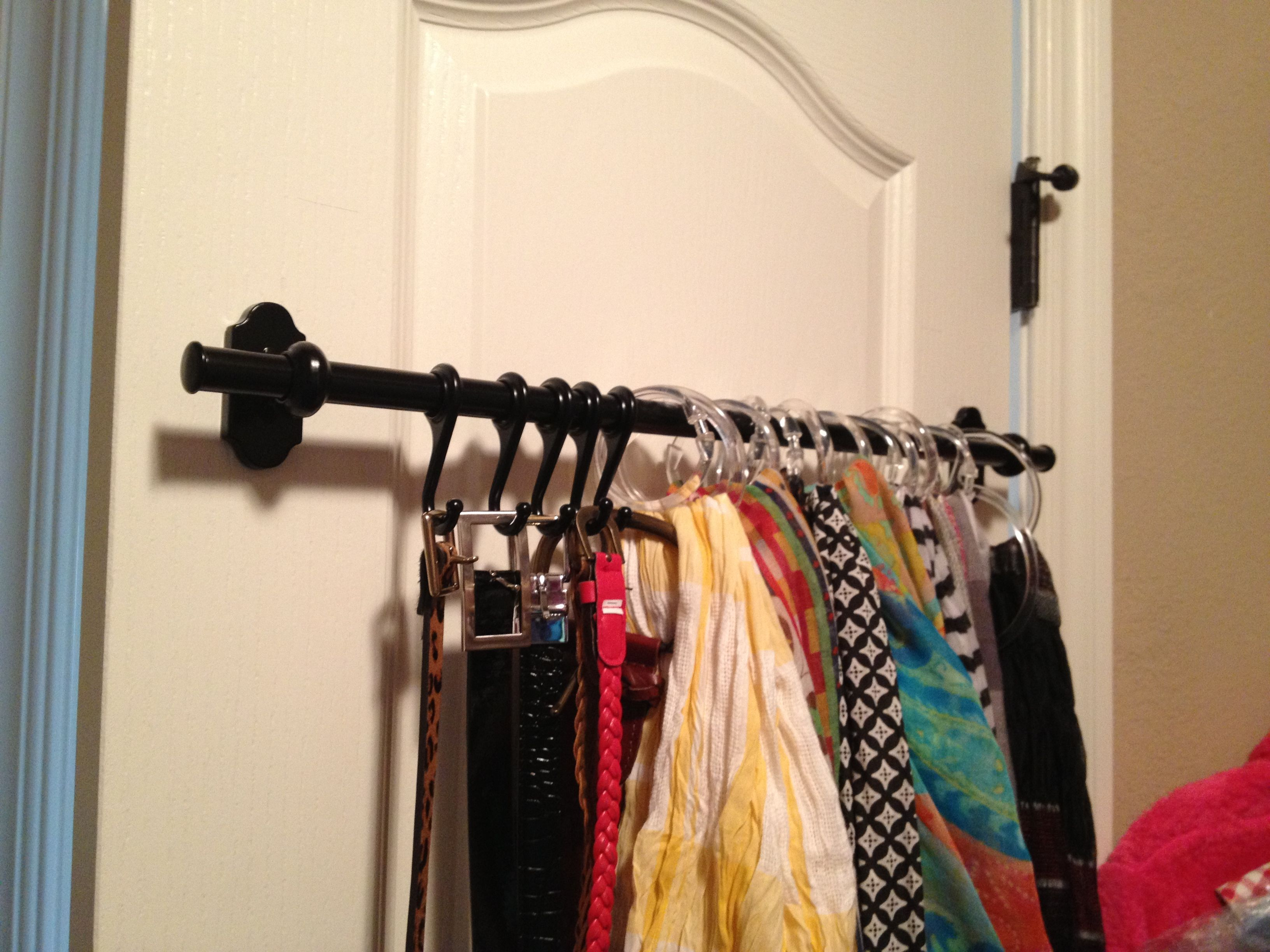 Ikea Fintorp rail & hooks, easy install on the back of my closet ...