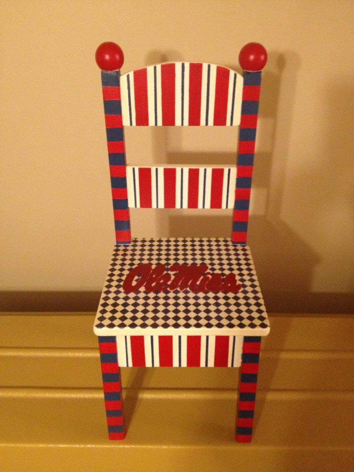 Ole Miss Chair By PaulasPlayhouse On Etsy, $85.00