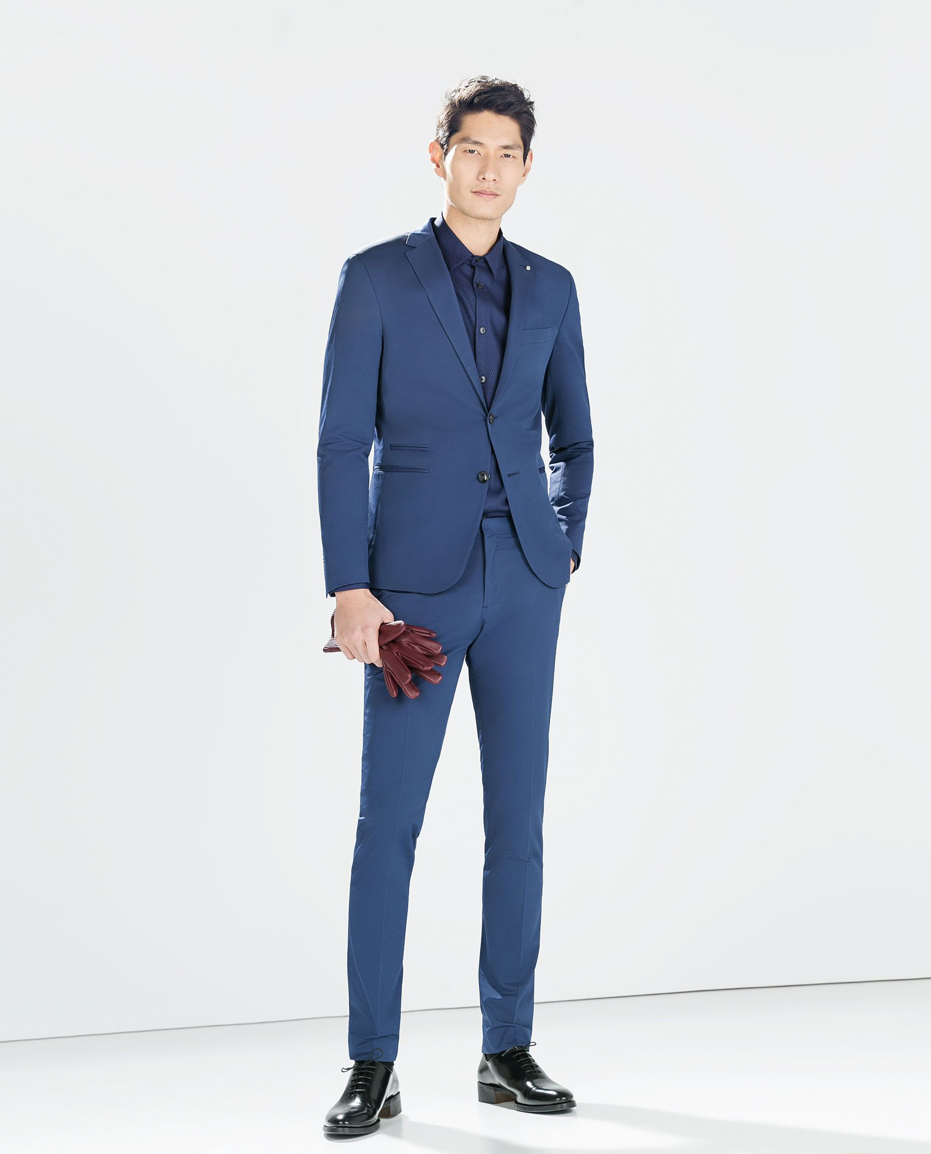 Abiti Eleganti Zara Uomo.Zara Collection Ss15 Blue Blazer With Pocket Costume Homme