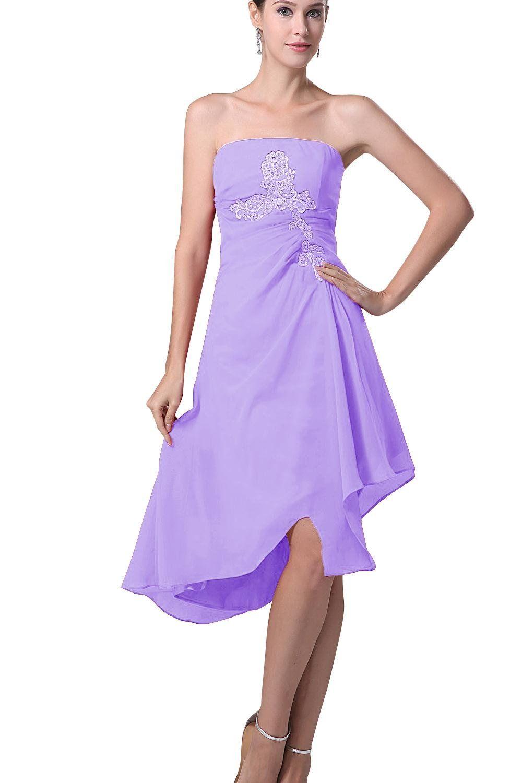 Dora bridal womens strapless chiffon cocktail party prom dress size