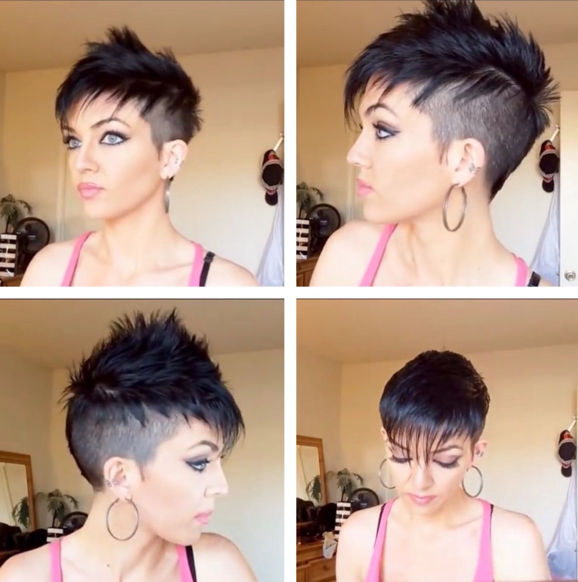 Womans faux hawk i love this haircut ium getting my long hair