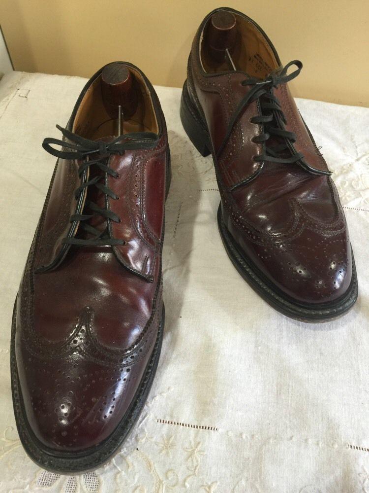 VINTAGE Men's FLORSHEIM Leather Oxford Shoes~ Brown~Size 9 3E EEE